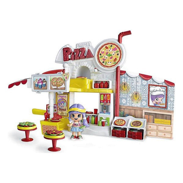Playset Pinypon Mix Is Max Pizza Restaurant Famosa