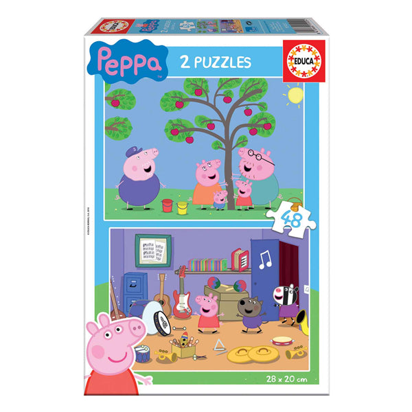 Puzzle Enfant Peppa Pig Educa (2 x 48 pcs)