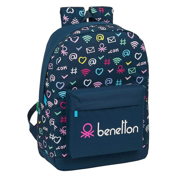 Cartable Benetton Dot Com Blue marine