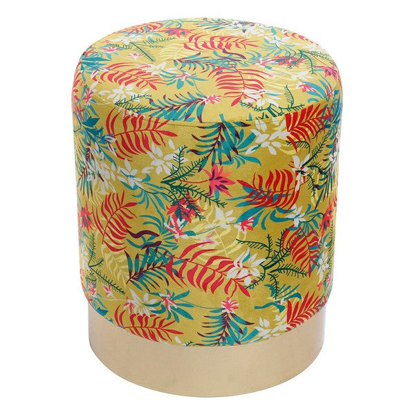 Repose-pied Dekodonia Jungle Polyester Métal Tropical (34 x 34 x 40 cm)