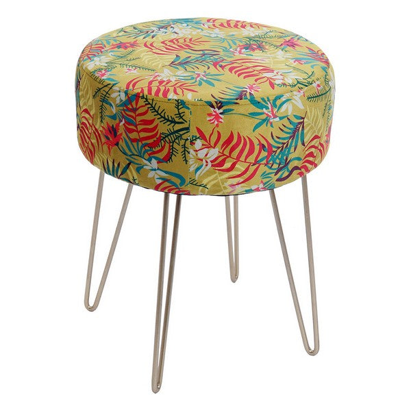 Repose-pied Dekodonia Jungle Polyester Métal Tropical (35 x 35 x 43 cm)