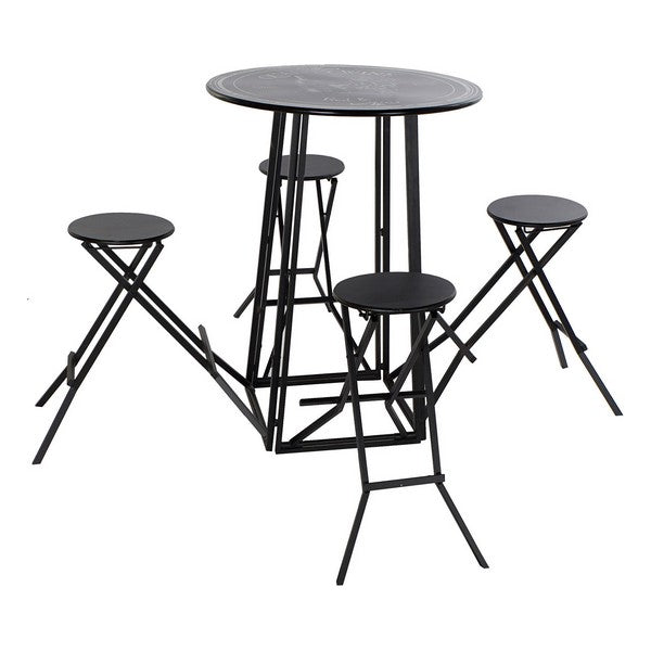 Ensemble Table + 4 Chaises Dekodonia Métal (5 pcs)