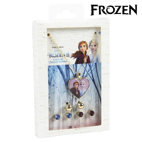 Frozen Necklace and Earring Set 71365 Gold