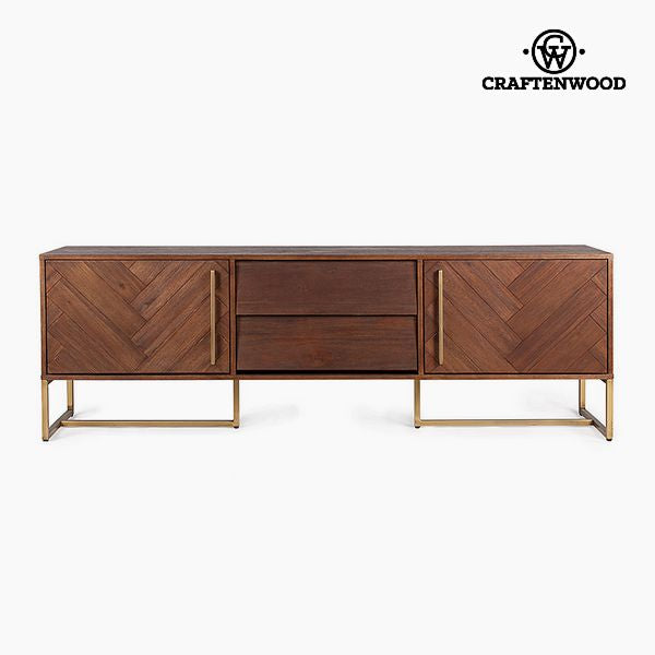 Table de télévision Mdf Bois d'acacia (180 x 45 x 60 cm) by Craftenwood
