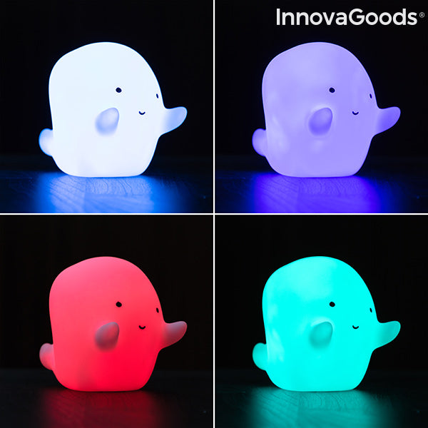InnovaGoods Multicolored Glowy Ghost LED Lamp