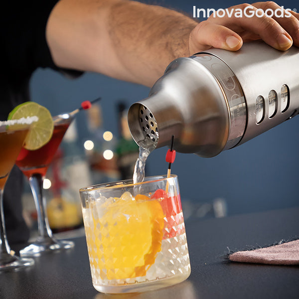 Cocktail shaker with integrated Maxer InnovaGoods cocktail recipes