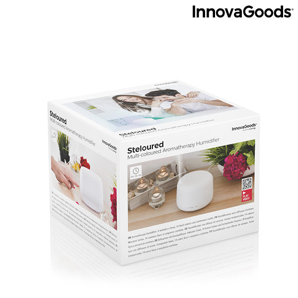Humidificateur à Diffuseur d'Arômes avec LED Multicolore Steloured InnovaGoods