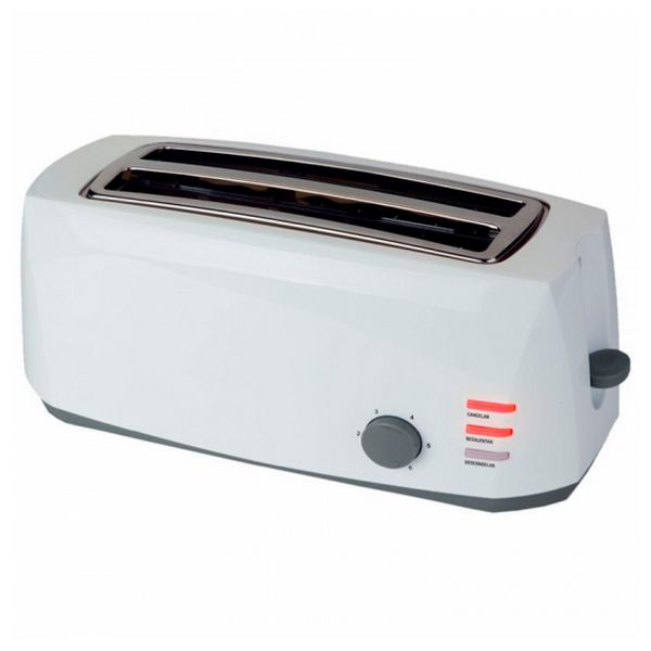 COMELEC TP1728 1400W Weißer Toaster