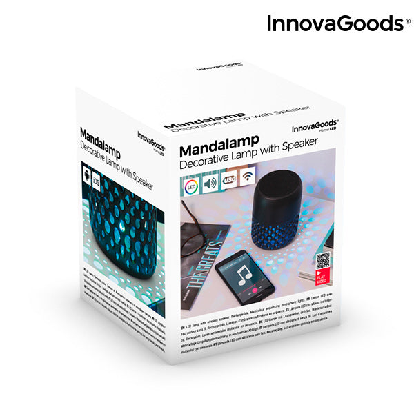 InnovaGoods Rechargeable LED Lamp with Mandalamp Bluetooth Speaker