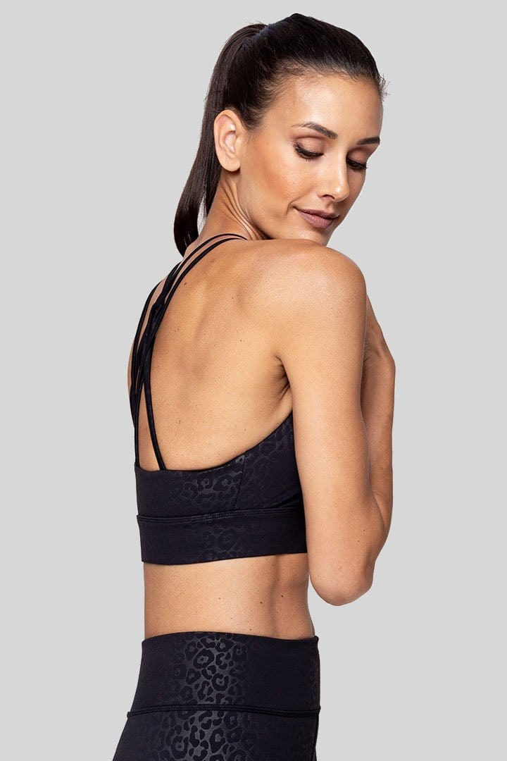 Lola Bra, Black Leopard Embossed | Vie Active