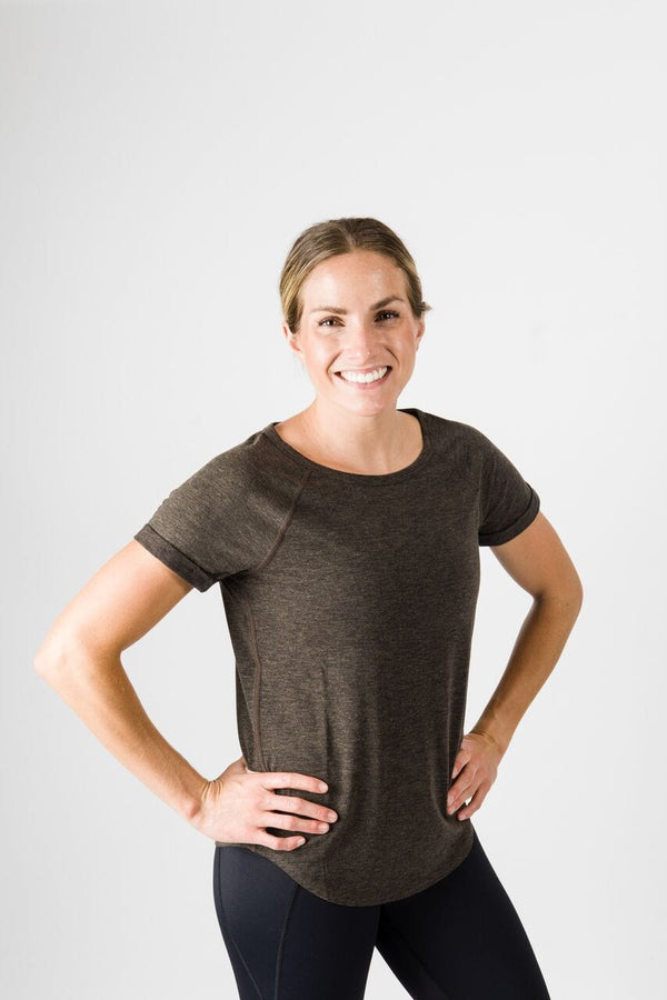 Teresa Short Sleeve Tee - Heather Charcoal