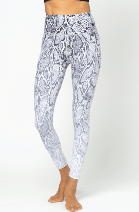 Lili 7/8 Legging, Black and White Python
