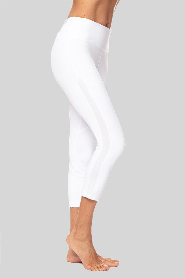 Dylan 3/4 Legging, White | Vie Active