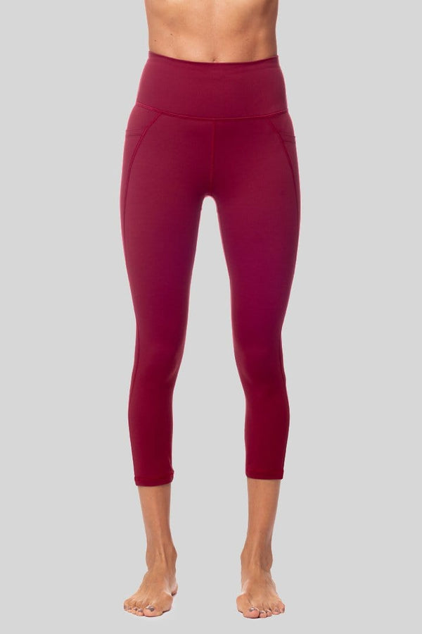 Lili 3/4 Legging, Burgundy