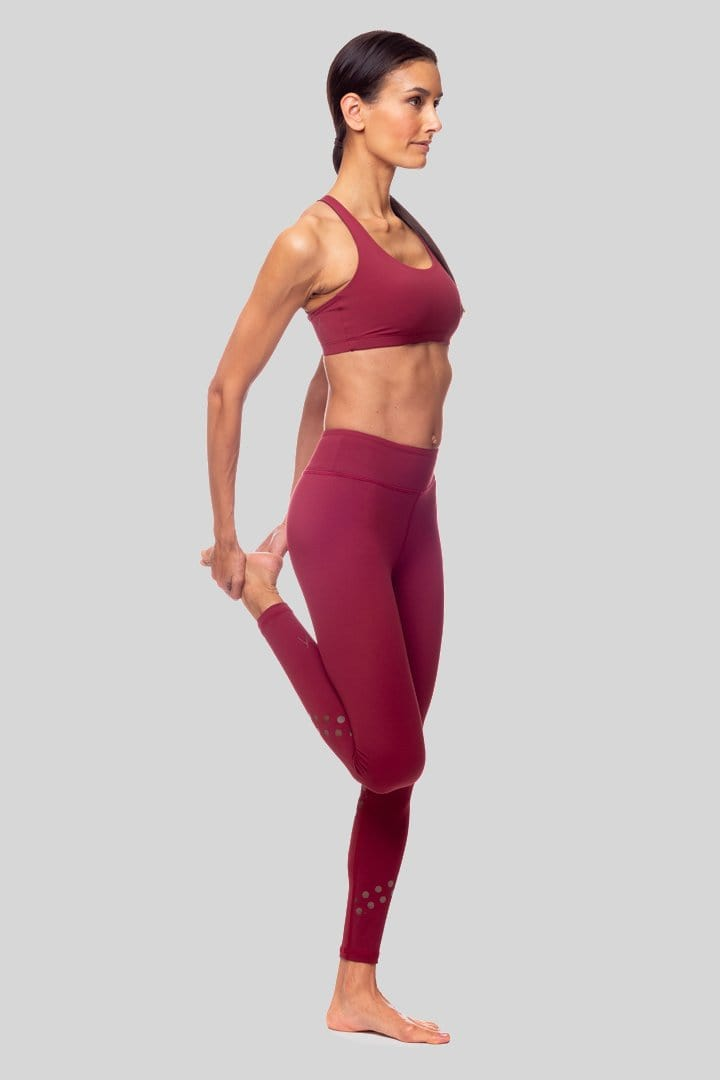 Rockell Dotty 7/8 Legging, Burgundy | Vie Active