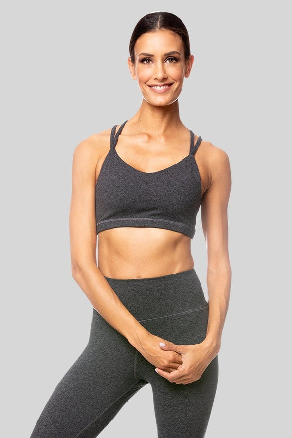 Lindsay Bra, Charcoal Brushed | Vie Active