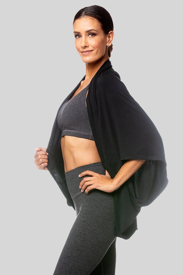 French Terry Shrug, Black | Vie Active