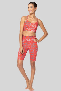 Bella Bike Short, Cherry Leopard | Vie Active
