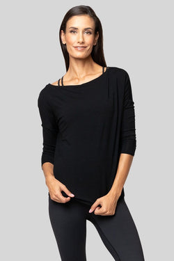 Timmi Long Sleeve Top, Black
