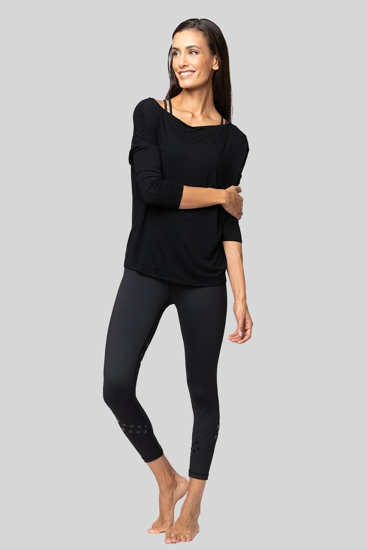 Timmi Long Sleeve Top, Black | Vie Active