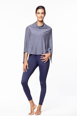 Michaela Poncho, Ink Blue Heather | Vie Active