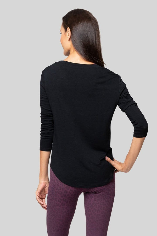 Nikki Long Sleeve Top, Black