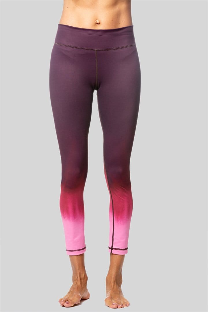 Rockell 7/8 Legging, Black-Cherry Ombre