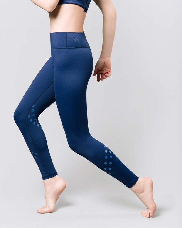 Rockell 7/8 Legging, Ink Blue Logo Dot