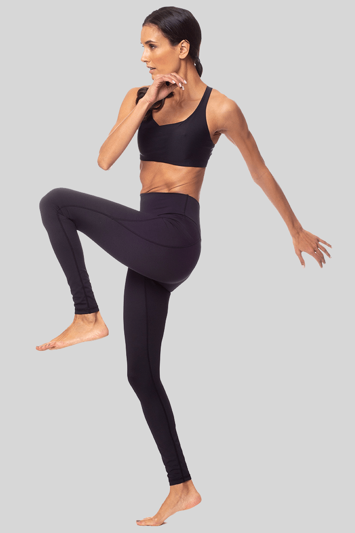 Lili Full Length Legging, Black | Vie Active