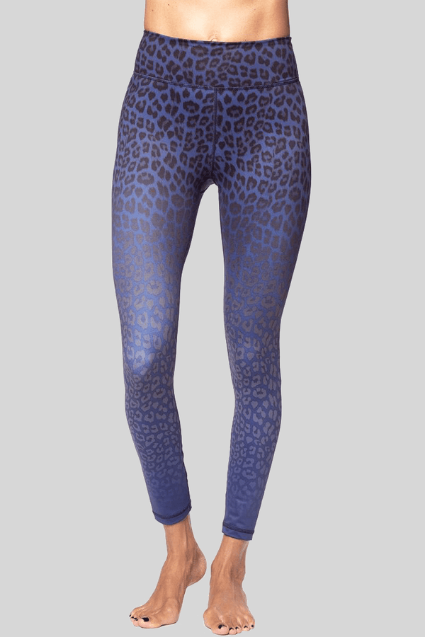 Rockell 7/8 Navy Blue Leggings, Leopard Ombre