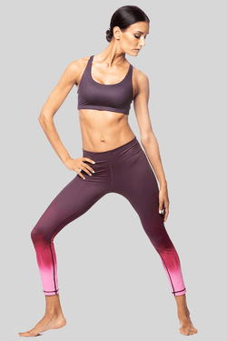 Rockell 7/8 Legging, Black-Cherry Ombre | Vie Active