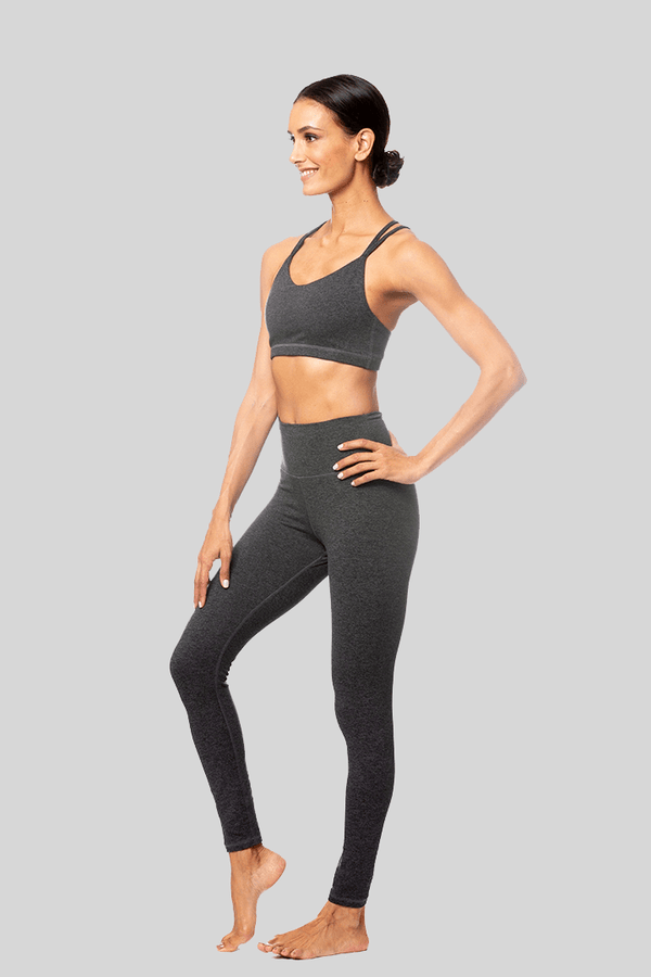 Rosie Full Length Legging, Charcoal Brushed | Vie Active