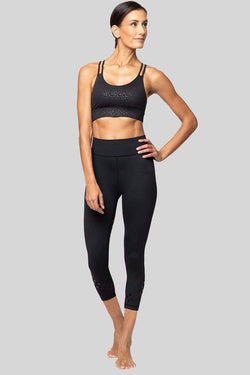 Rockell 3/4 Crop, Black Logo Dot | Vie Active
