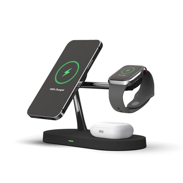 5-in-1 Magnetic Wireless Charging Stand with LED Light for iPhone 12 Apple Watch & AirPods