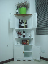 Load image into Gallery viewer, Wooden Corner Cabinet/Corner Unit/Corner Shelf/Corner Cupboard,HC-003A