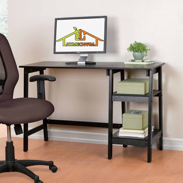 Wooden Computer Desk with Storage Shelves HC-013B