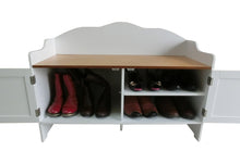 Load image into Gallery viewer, Wooden Shoe Bench/Shoe Storage Bench/Shoe Cabinet Seat/Shoe Cupboard,HC-038