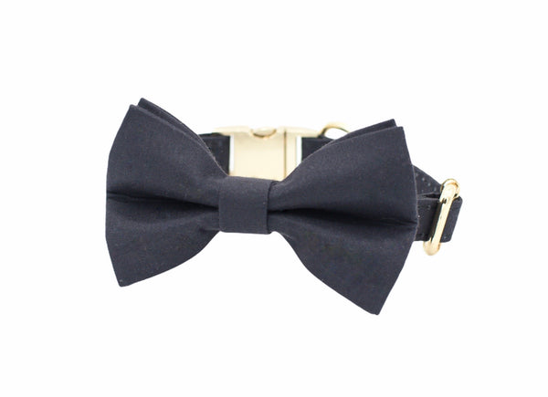 Black Dog Bow Tie Collar