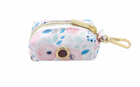 Blue Floral Waste Bag Holder
