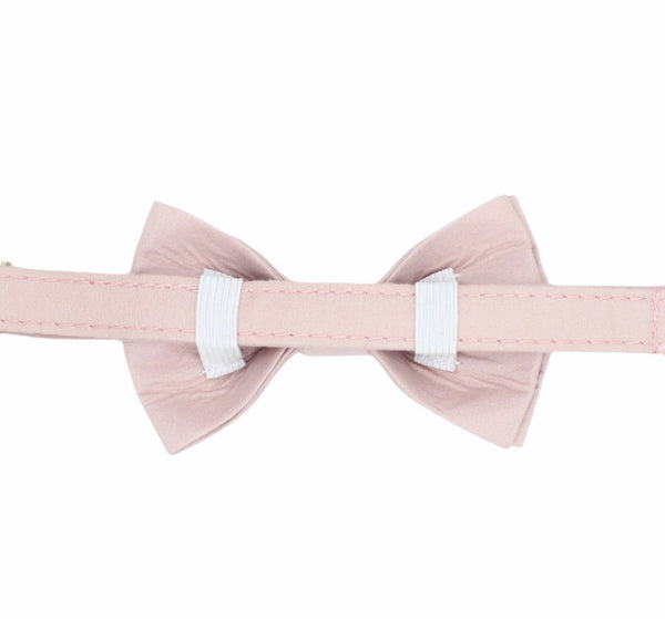 Smokey Rose Dog Bow Tie Collar
