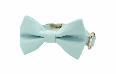Teal Dog Bow Tie Collar