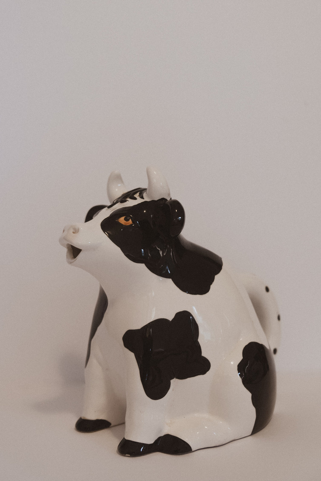 VINTAGE CLAY COW PITCHER