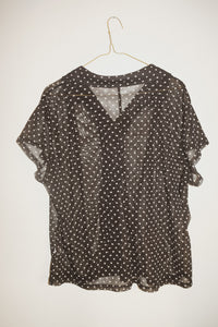 POLKA DOT BUTTON-UP (XL)