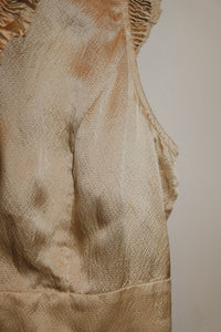 CHAMPAGNE SILK BLOUSE (S)