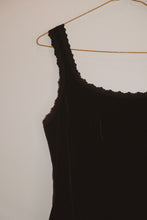 Load image into Gallery viewer, VELVETY BLACK TANK (M)