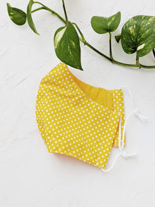 Reusable Face Mask (Polkadot Yellow)