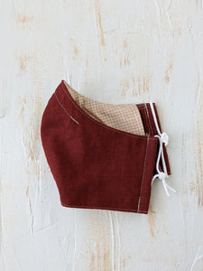 Reusable Face Mask - Linen x Cotton (Rust)