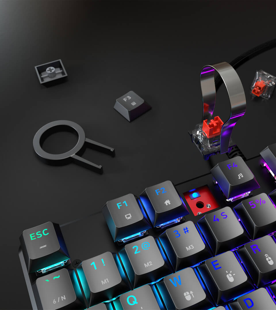 Lunar Alloy TKL gaming keyboard with Mechanical Switches