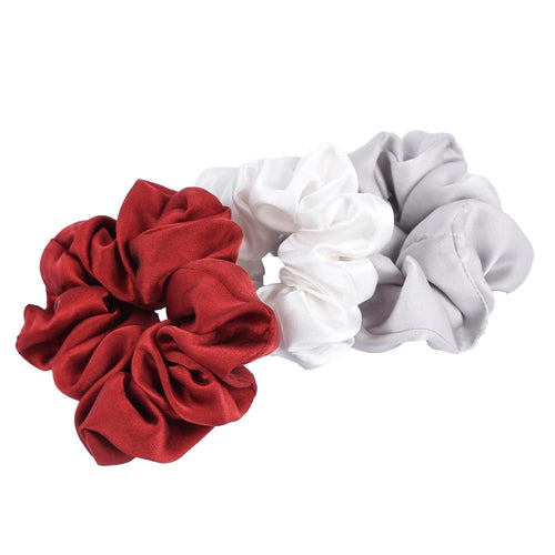 Mulberry Silk Scrunchies (Pack of 3) - The Minimal Co