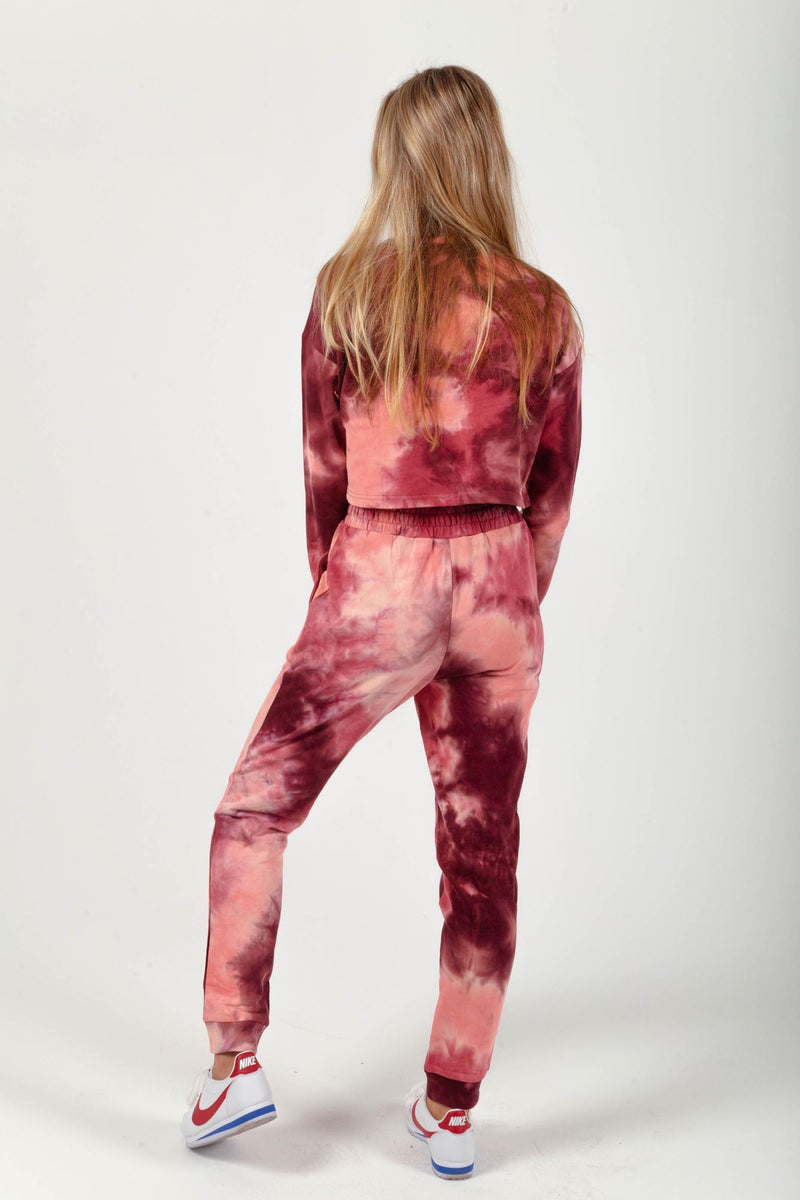 Burgundy Love Tie-Dye Set
